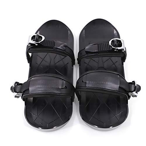 Raquetas de nieve de invierno para adultos, botas de snowboard portátiles Fijaciones ajustables Deportes Esquí Zapatos de nieve Viajes al aire libre Mini patines de esquí para jóvenes/mujeres/hombres.