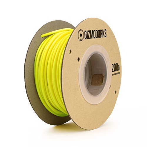 Gizmo Dorks ABS Filament 1.75mm 200g for 3D Printing, Black Light Reactive Fluorescent Yellow