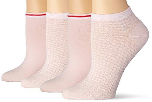 Tommy Hilfiger Womens Waffle Women's Sneaker-Trainer (2 Pack) Socks, pink, 35/38