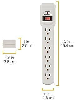 شراء AmazonBasics 6-Outlet Surge Protector Power Strip 2-Pack