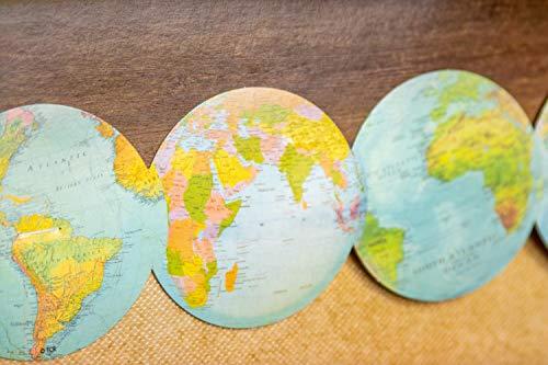 Teacher Created Resources Travel The Map Globes Die-Cut Border Trim Photo #3