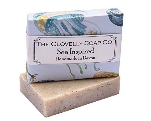 Clovelly Soap Co Natürliche handgemachte Seife für alle Hauttypen Teebaum, Minze & Eukalyptus 100g