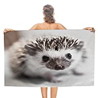 ハリネズミ Hedgehog-1 バスタオル 大判 両面パイル 人気 速乾 耐久性 高速吸水 極軟 肌触り 軽量 多用途 子供 男女兼用 四季通用 毛布用 ギフト おしゃれ (130x80cm)