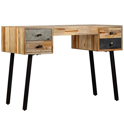 vidaXL Biurko z litego drewna, 4 szuflady, stolik pod komputer, stół do biura
