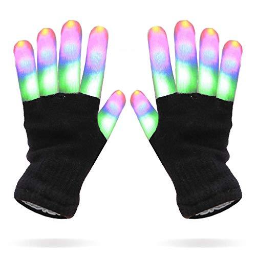 Luwint Kids LED Gloves Finger Light up Gloves - Flashing Novelty Toys for Children Boys Girls