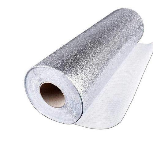 kitchen-dream Silberfolie Tapete-Küche Aufkleber Selbstklebende Küche Aluminiumfolie Aufkleber Öl Proof wasserdichte Küchenherd Aufkleber (B, 30CM*5M)