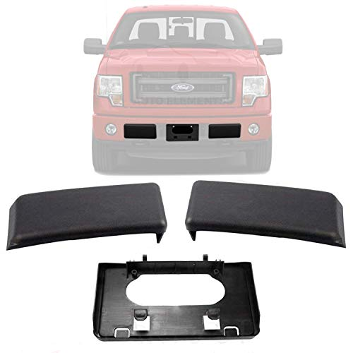 New Front Bumper Guards Pads & License Plate Frame Bracket For 2009-2014 Ford F150 / FX2 / XL/XLT/Lariat/King Ranch/STX/Platinum/Crew/Extended/Standard Cab FO1053100