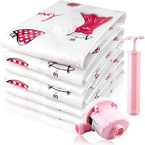 Storage Bag 4 bolsas de vacío para ropa de cama con bomba de vacío y compresión, tamaño L (100 x 70 cm) x 4)