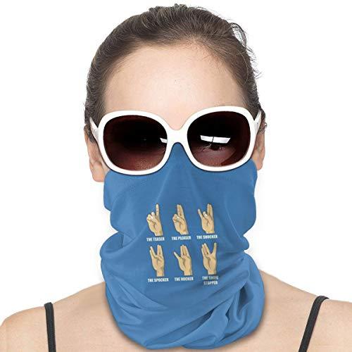 Wangqiuying19 Rock Papier Schere Kopfbedeckung, Bandana, Halstuch, Kopfband, Sturmhaube Einheitsgröße Zeichensprache