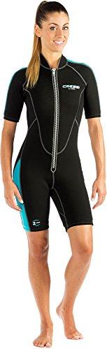 Cressi Lido Lady Shorty Wetsuit 2mm - Einteiliger Neoprenanzug Damen für alle Wassersportarten