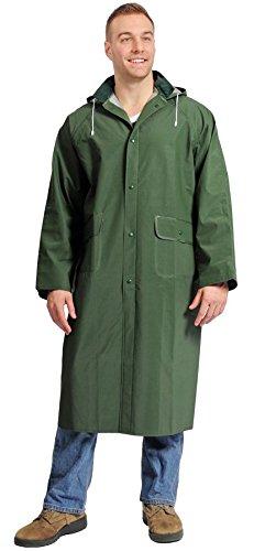 Galeton 7970-M-BK 7970 Repel Rainwear 0.35 mm PVC Raincoat Black Medium 48 Long