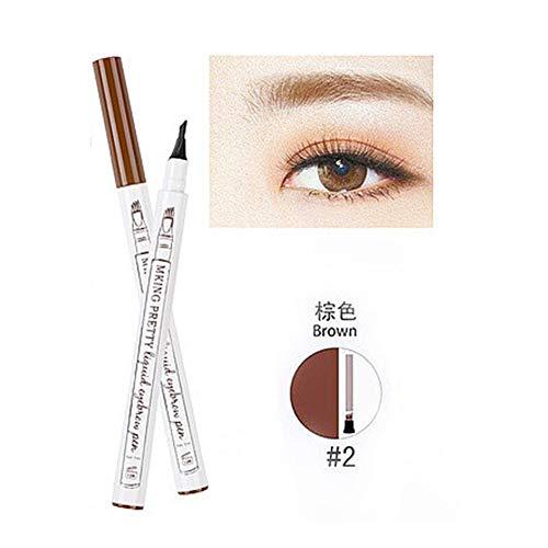 NLJYSH Crayon à Sourcils Liquide de Maquillage Tache imperméable Colorant Tatouage sourcil Brun Stylo Eye-Liner à Long sourcil Durable (Color : 02 Brown)