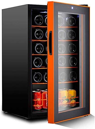 TYUIO Silent-24 Flasche Wein Kühlschrank - Freistehend Touchscreen Weinkühler, Schwarz