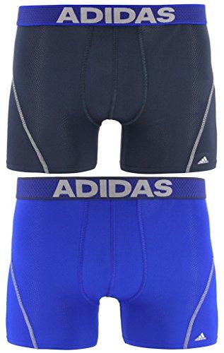 adidas Men's Sport Performance Mesh Trunks Underwear (2-Pack), Urban Sky/Bold Blue Bold Blue/Urban Sky, LARGE