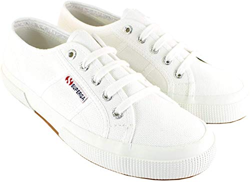 Price comparison product image Superga Womens 2750 Cotu Classic Canvas Low Cut Retro Plimsoll Trainers - White - 8.5