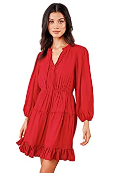 Sugarlips Women s Lilly Ann Long Sleeve Peasant Dress Cherry Small