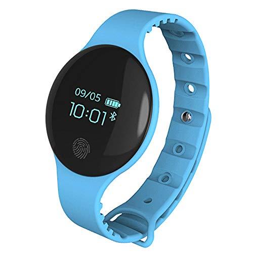 Smart horloge mannelijke middelbare school student meisje tiener wekker armband bluetooth pedometer elektronisch horloge blauw