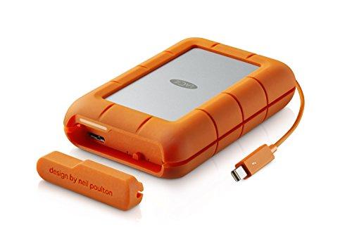 LaCie Disque dur–For Mac–lac9000488 Disque dur Rugged Raid 4 TB (2 x 2) Orange, Silber