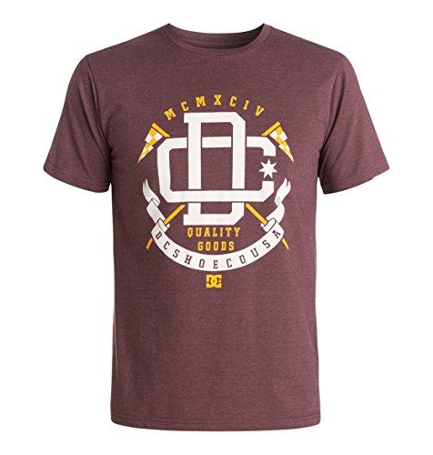 DC Shoes Final Lap - T-shirt - Imprimé - Col ras du cou - Manches courtes - Homme - Rouge (Port Royale) - X-Small (Taille fabricant: XS)