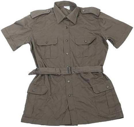Fratelliditalia Camisa de casca sariana de Safari del ejército Italiano de Media Manga de algodón Jungla