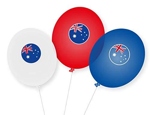 9 Luftballons * AUSTRALIEN * als Deko für Mottoparty, Länderparty und Geburtstag | Ballons Party Set Down Under