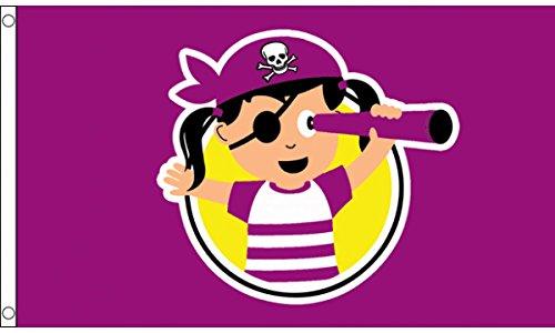 Flagtex Piratenflagge für Mädchen, 152 x 91 cm