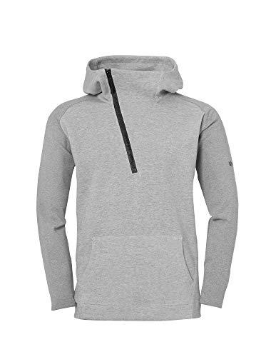 uhlsport Herren Essentielle Pro Zip-Hoodie Sweatshirt, Dark grau Melange, M