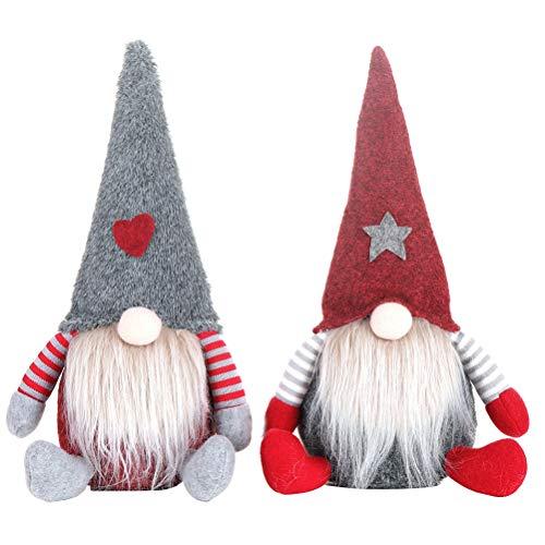 SOIMISS 2 unidades adoráveis ??brinquedos de boneca anã de natal para festas de boneca rosto enfeites de mesa