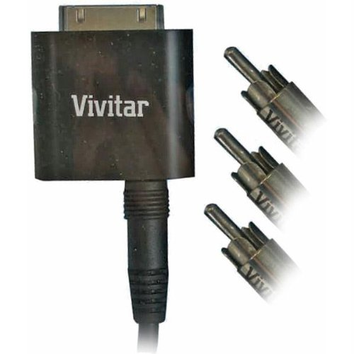 Vivitar V10589C-IPD Composite AV Cable for iPad/iPhone/iPod - Retail Packaging - Black