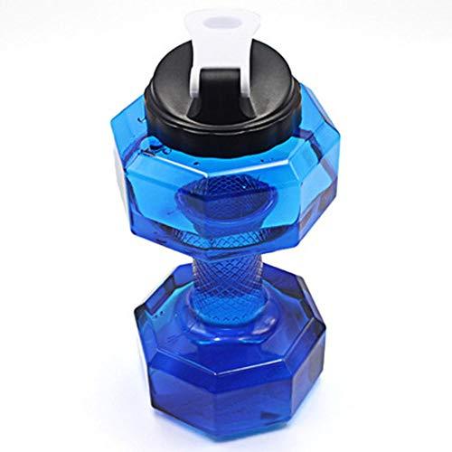 ZJP 2.2LWater Botella, Creativo Mancuernas Gimnasio Gran Capacidad Botella De Agua Espacio Deportes Frascos De Plástico PETG Materiales (Color : Blue, Size : 27x13CM)