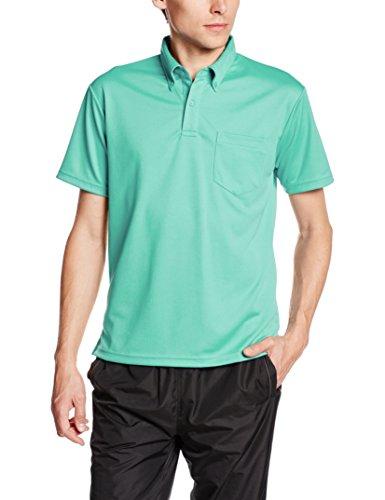 [グリマー] 半袖 4.4オンス ドライ ボタンダウン ポロシャツ [ポケット付] 00331-ABP ミントグリーン SS (日本サイズSS相当)