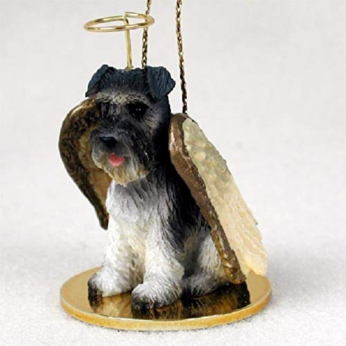 Schnauzer Angel Dog Ornament - Uncropped - Gray by Conversation Concepts