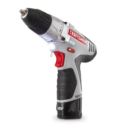Craftsman N17586 NEXTEC 12.0V Lithium-Ion Drill/Driver Kit with Ergonomic Handle and ENERGY STAR Qualified