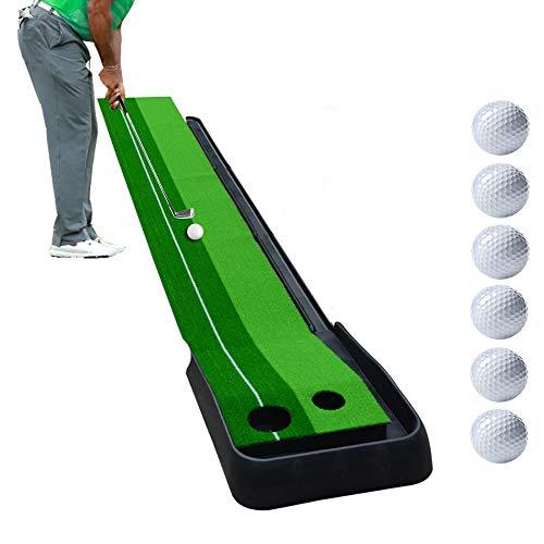 WYLDDP Golf Putting Mat avec Retour Automatique à Track...