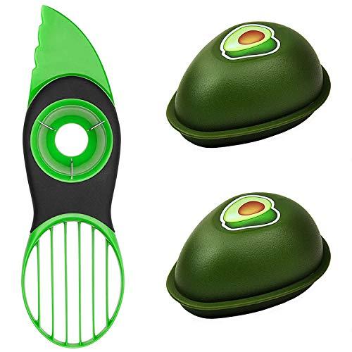 Avocado Slicer, 3 in 1 Avocado Cutter with Avocado Saver