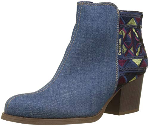 Desigual Shoes_Country_Exotic, Botines para Mujer, Azul (Denim Medium Wash 5053), 39 EU