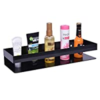 Made From MS Sheet with Powder Coated, Size: L-35 X B12- X H-6 Cm. Multipurpose Uses - Shampoo Rack, Perfume Rack, Bottle Holder Etc. PREMIUM MATERIAL - Spray Painting And Thickening Wrought Iron Body, Good Rust Prevention Very Sturdy And Sleek Surfa...