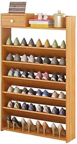 ZouYongKang Tablero de madera Estante del estante de zapatos con un cajón Ropa de vestidor Estantes de almacenamiento de zapatos Racks independientes independientes Estilo clásico - organizador de est
