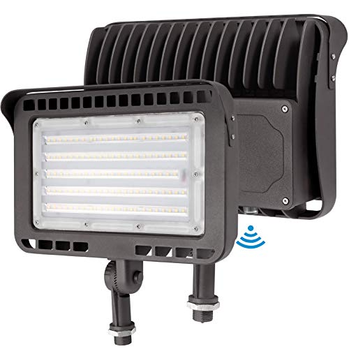 Lightdot 100W Outdoor LED Flood Securtiy Light with Photocell (100W Eqv 400W) 5000K for Yard/Parking lot/Stadium(2 Pack)