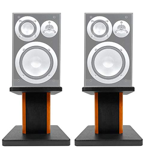 Check Out This (2) 8 Wood Bookshelf Speaker Stands for Yamaha NS-6490 Bookshelf Speakers