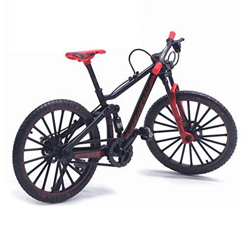 MOVKZACV Bicicleta de montaña en miniatura, simular montar a caballo, modelo de bicicleta de metal 1:10, modelo de bicicleta Diecast Toy Desk Craft Collection, minibikes de dedo, juguete para niños