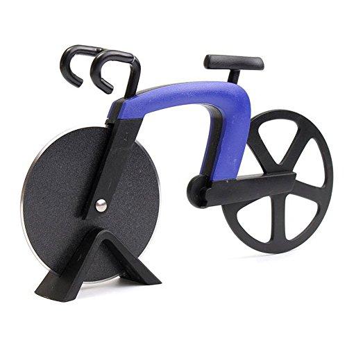 SUOSI Bike Pizza taglierina di rotella biciclette Pizza Cutter doppio in acciaio inox con rivestimento antiaderente Serveware Rotelle tagliapizza (Rosso)