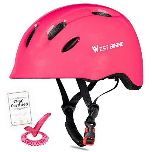 Kinder Jugendhelme, Kinderhelm, Skateboard Helm, Schutzausrüstung, Rollschuhroller, Leicht einstellbar atmungsaktiv, Fahrradhelm mit ABS-Schale für Kinder (51-56cm)