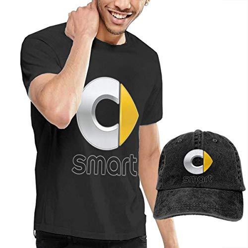 Baostic Camisetas y Tops Hombre Polos y Camisas, New Smart Auto Logo Fashion T Shirts+Cowboy Hat for Gentleman Black