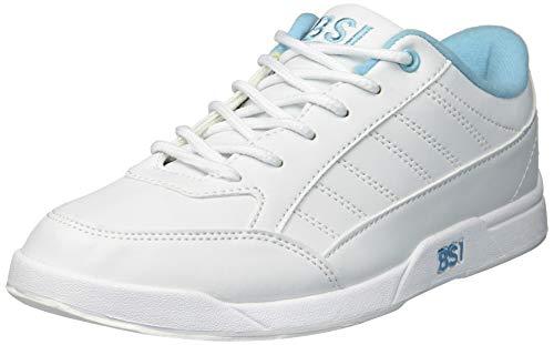 BSI Women's 422 Bowling Shoe, White/Blue, Size 11
