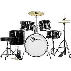 First Drum Kit Deal - 5 Piece Black Drum Set