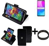 K-S-Trade® Case Schutz Hülle Für Nubia Z18 Mini + Bumper Handyhülle Flipcase Smartphone Cover Handy Schutz Tasche Walletcase Schwarz (1x)