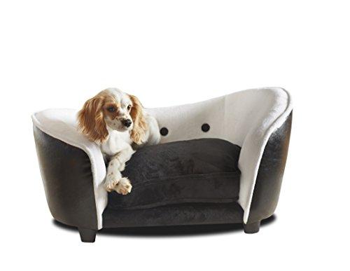 WohnDirect Designer Hundesofa Hunde und Katzen Robust und Pflegeleicht Hundebett mit Hundekissen und Aufbewahrungstasche 67x35x41