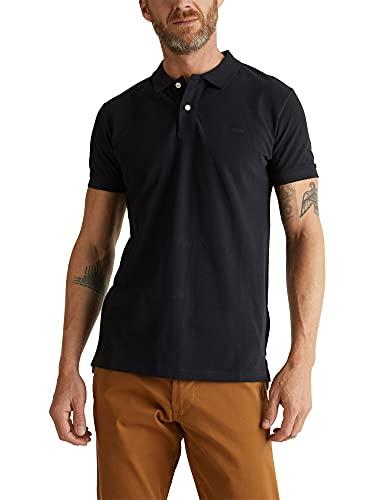 ESPRIT Herren Classic Piqué Poloshirt, 001/BLACK-New Version, M