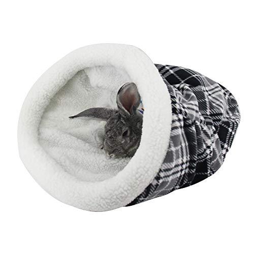 Huisdier-slaapzak, warm, konijnen, speeltunnel, kattentunnel, draagbaar, voor huisdieren, opvouwbaar, voor huisdieren., Zwart en wit.